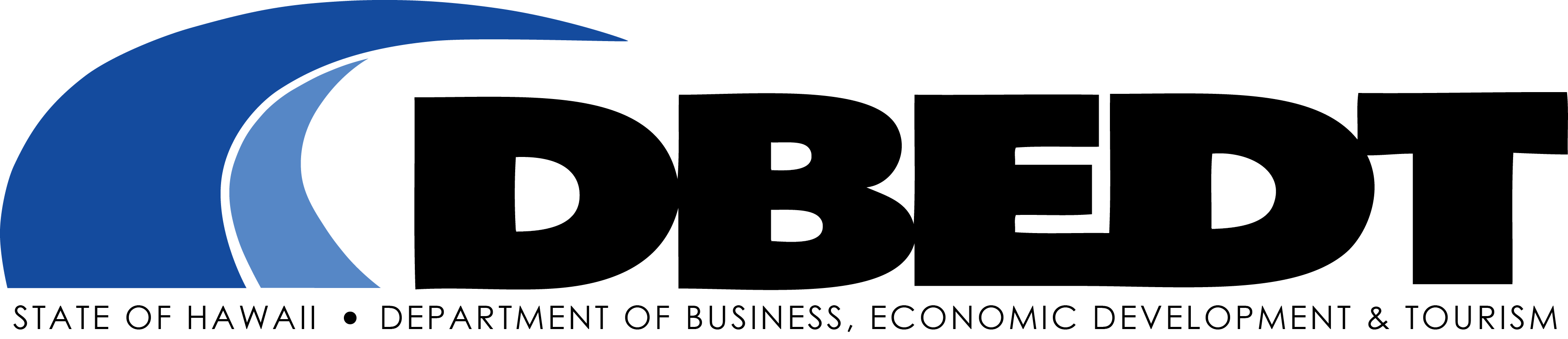 Logo of the Department of Business, Economic Development, and Tourism.